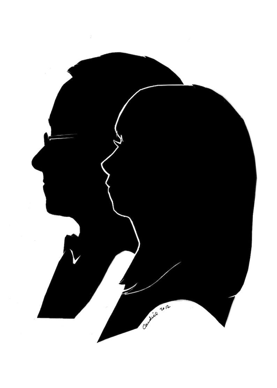 Custom Silhouette Portraits Double Subject image 0