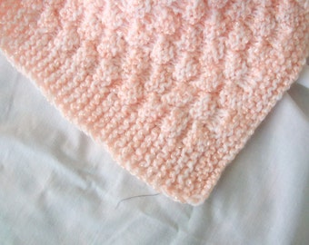 hand knit baby carriage/bassinet/crib blankets
