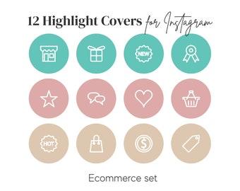 Highlight Covers for Instagram | Custom Instagram Story Covers | IG Highlight Cover Icons | Instagram Story Icons for shops