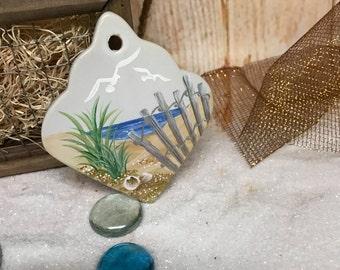 Ceramic Beach Ornament