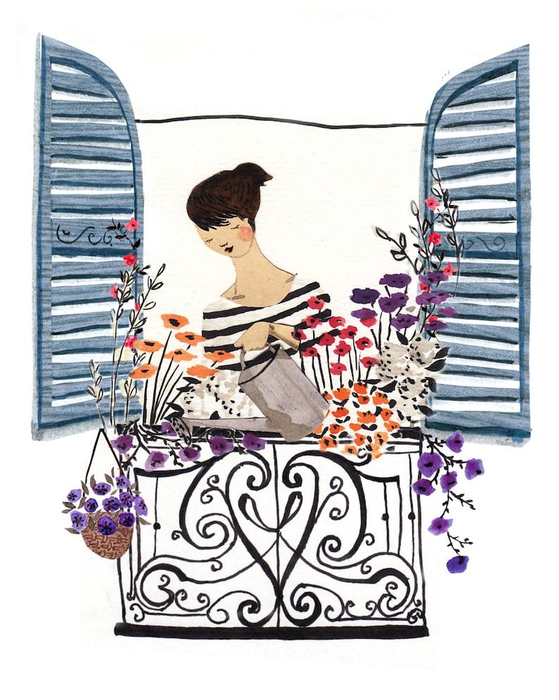 Window Box A4 Art Print image 0