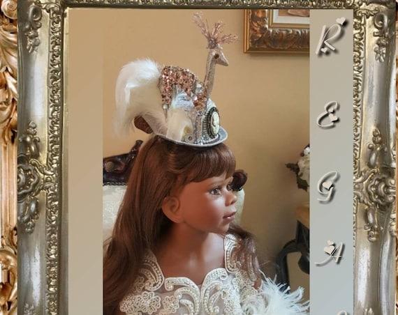 Stunning Royal Ascot Mini Hat with Ribbon Streamers
