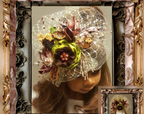 Parisian Olive Headpiece