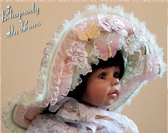Victorian Garden Party Toddler Wide-brimmed Ruffled Hat