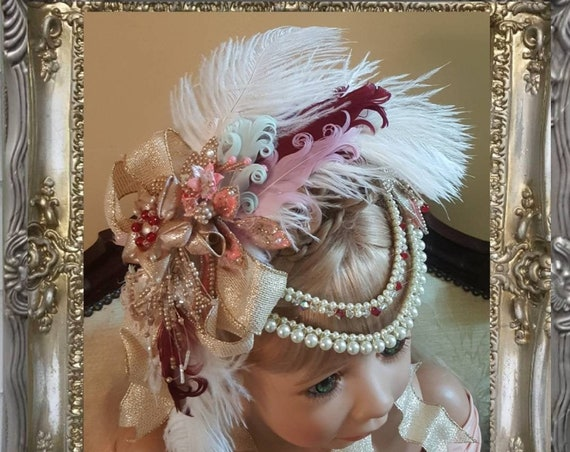 Masquerade Ball Headpiece - Hand Painted