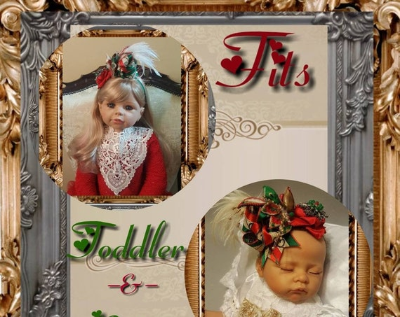 Baby & Toddler Reversible Parisienne Christmas  Headpiece