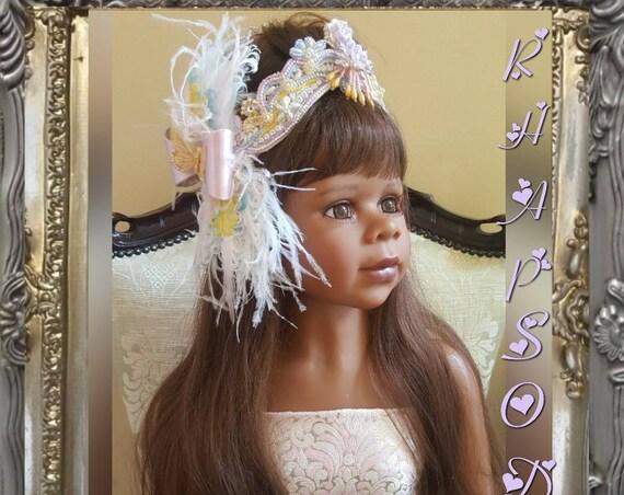 Marie Antoinette Pastel Crown - Hand Painted