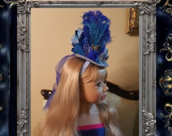 Butterfly Theme Ascot Mini Hat with Ribbon Streamers