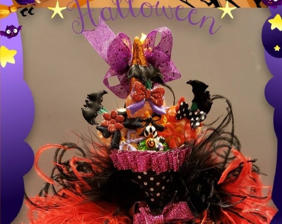 Halloween Candy MINI Witch Hat Headband