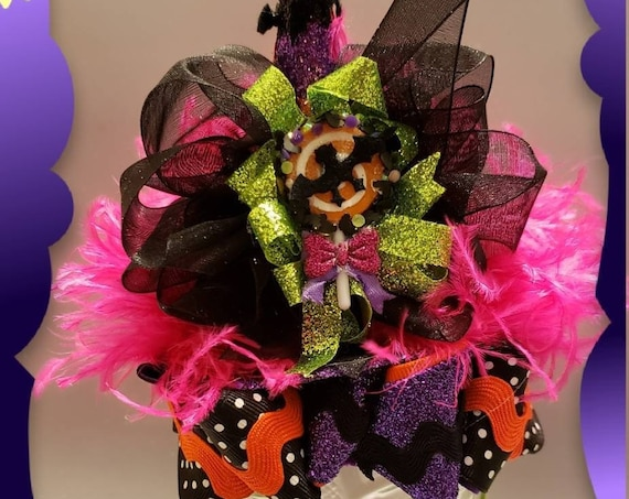 Sweet BATTY Halloween MINI Witch Hat Headband