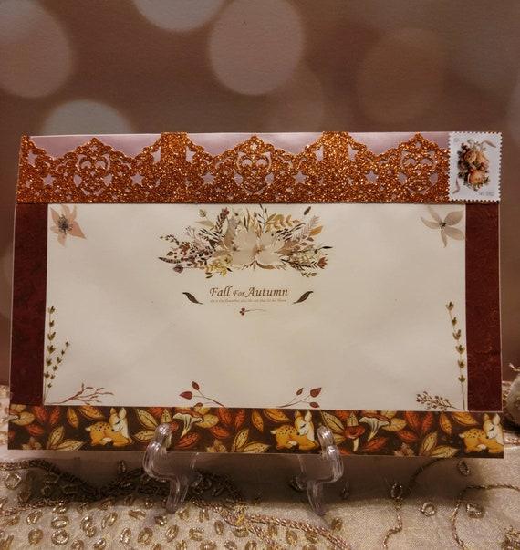 Fall, Autumn stationery, Garden Party Invitation, Elegant Stationery Set, Greeting Card, Floral stationery set, Letter Writing Set