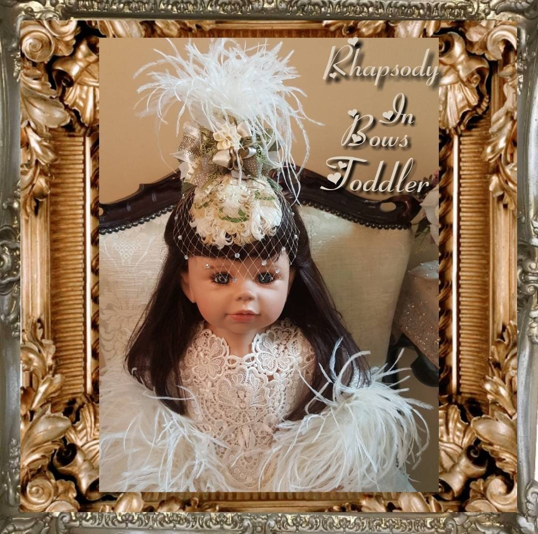 3dd3dc78f Victorian opulence Toddler Fascinator with rhinestone Birdcage Veil