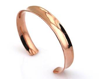 Copper Cuff Comfort Fit Copper Cuff Forged Copper Cuff Copper Bracelet Wide Copper Bracelet Comfort Fit Copper Bracelet Arthritis Copper