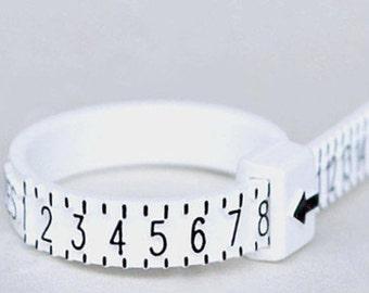 Ring Sizer, US Ring Sizer, Ring Multisizer, Adjustable Ring Sizer, Half and Half Sizes, Ring Sizing Tool, Plastic Ring Sizer, Flexible