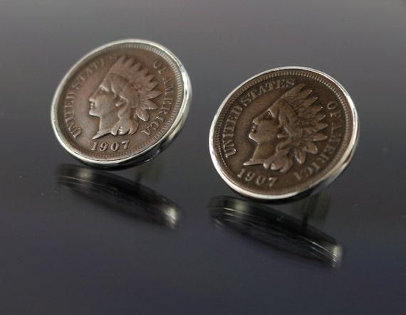 Indian Head Penny Post Earrings