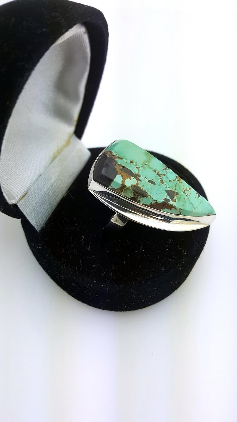 Natural Turquoise Ring Boho Turquoise Ring Large Turquoise Ring Turquoise Statement Ring