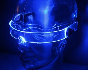 The original Illuminated Cyberpunk Cyber goth visor STEALTH Clear **choose your led colour***