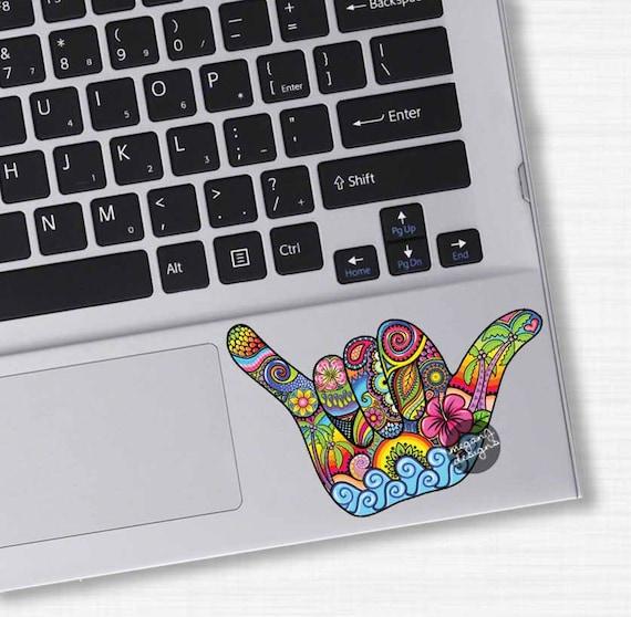 Small Shaka Sign Hang Loose Hand Sticker Hawaii Decal Colorful Etsy