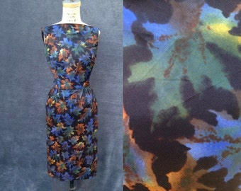 1950s Wiggle Dress /  50s vintage dress / Wiggle Dress  / Bombshell Dress /  Rockabilly Dress / XS / S