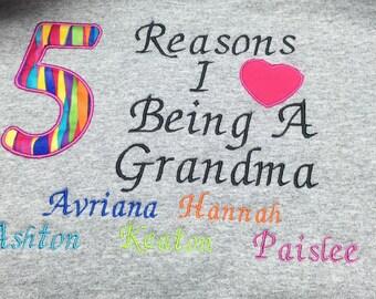 Personalized Crew Neck Grandma Sweatshirt Xl And Bigger