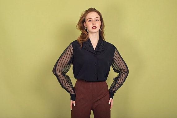 70s Dark Brown Knit Pants Vintage High Waisted Pa… - image 8