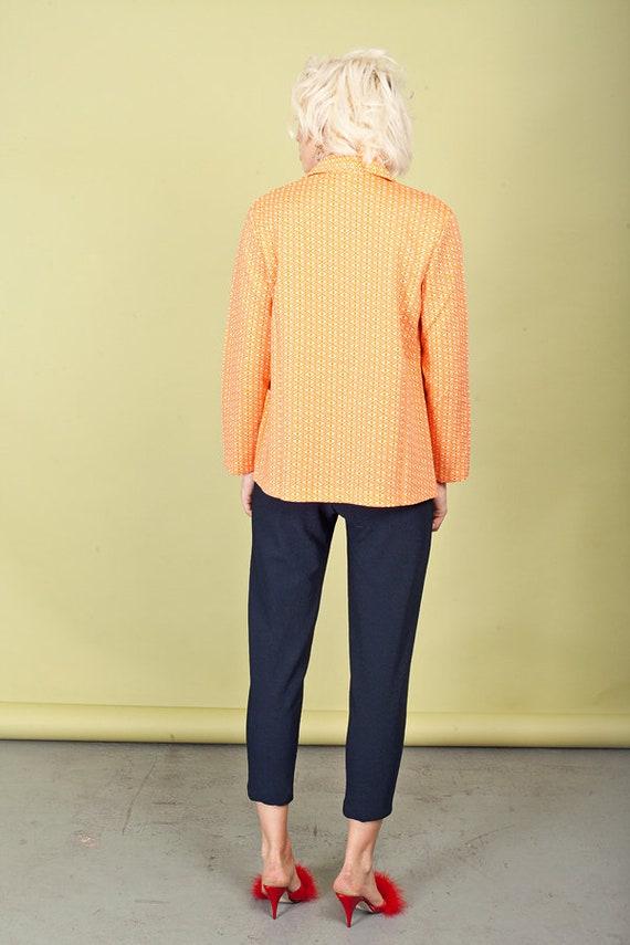 80s Dark Blue Stretchy Pants Vintage Knit High Wa… - image 6