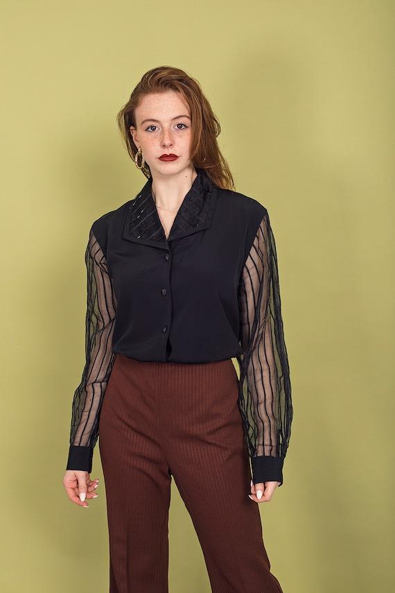 70s Dark Brown Knit Pants Vintage High Waisted Pa… - image 5