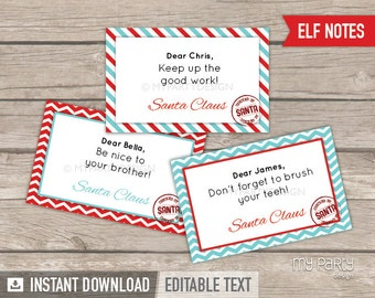 Letter From Santa Kit With Envelope Template Red Christmas Etsy