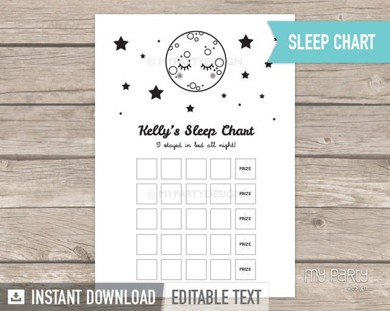 photo relating to Sticker Chart Printable Pdf identified as Snooze Chart - Little one Added benefits Chart - Slumber Performing exercises Sticker