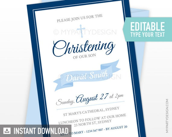 baptism invitation christening invitation first communion invite