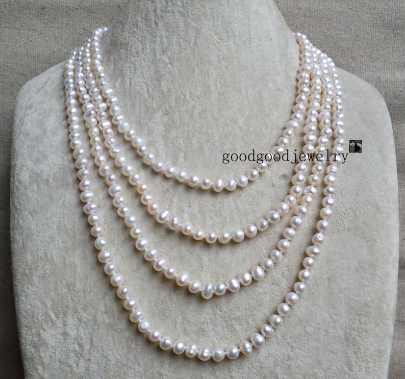 590d6344971a Largo marfil blanco collar de perlas blancas collar largo de