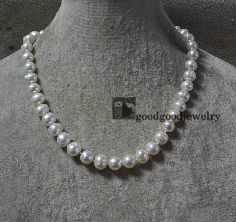 d554276c9a67 Blanco collares de perlas collar de perlas de agua dulce Real