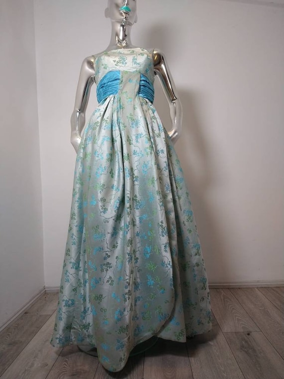 Genuine Vintage Sambo Fashion Brocade Evening Dres