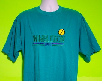 Vintage 90s Mens Tennis T Shirt Size XL Hipster Summer Casual