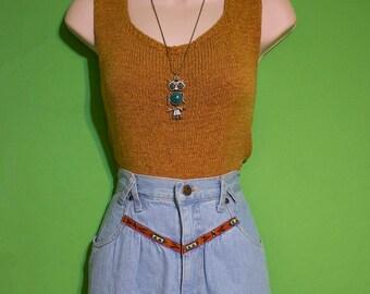 Vintage 80s Womens High Waist Jeans Skirt Size 10 Boho Hipster Summer Southwest