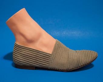 Vintage 90s Womens Woven Stretch Slide Shoe Size 9 Beach Summer