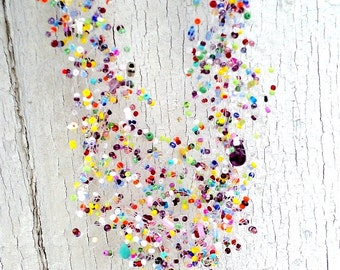 Colorful Necklace Beaded Seed Bead Jewelry