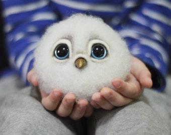 Needle felted Owl felt toy doll Ornament Miniature Cute stuffed animals Bird Owl figurine lover gifts for women Soft sculpture doll