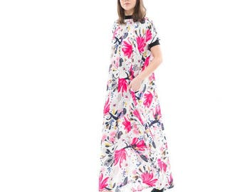 Print  Silky flowing maxi dress