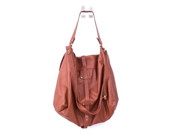 Bolso de cuero marrón, totalmente forrado con ligero de tela bolso de cuero suave de algodón fuerte, fuerte y se adapta cómodamente sobre el