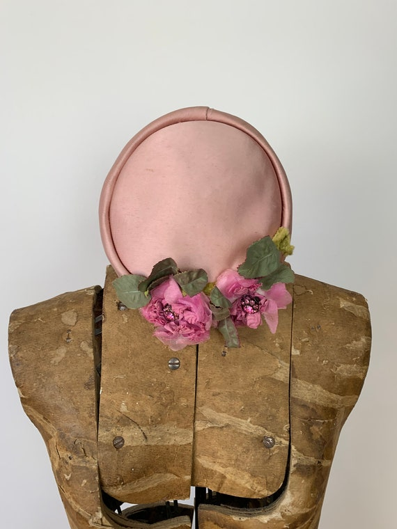 Vintage 1950s Pink Pillbox Hat