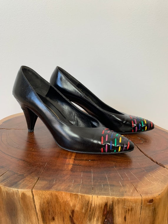 Vintage 1980s Bruno Magli Color Pop Pumps