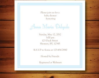 Simple Baby Shower Invitation