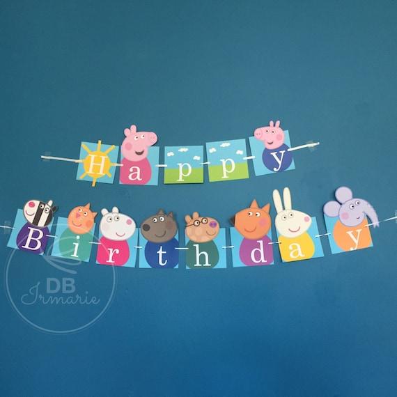 Peppa Pig Banner Peppa Pig Birthday Banner By: Peppa Pig Banner Birthday Banner Peppa Theme Peppa