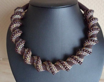 Pattern cellini spiral necklace | pdf pattern | miyuki pattern | beading pattern | cellini pattern | cellini necklace | beading tutorial