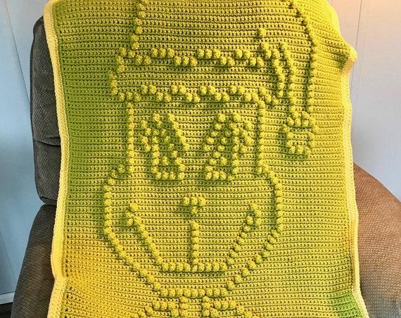 Cute Character Crochet Baby Blanket Pattern - Baby Blanket Pattern - Blanket Pattern