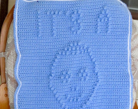 Gender Reveal Baby Blanket Crochet Pattern  - Baby Snuggle Blanket  - Car Seat or Stroller Blanket