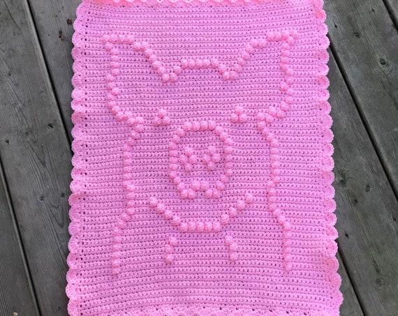 Penny the Piggy Crochet Baby Blanket Pattern - New Born Blanket - Car Seat Blanket - Stroller Blanket - Snuggle Blanket - Lovey