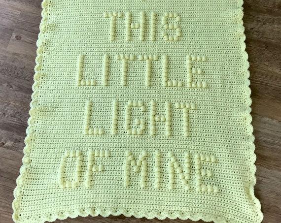 This Little Light of Mine Crochet Baby Blanket Pattern - Baby Blanket Pattern - Blanket Pattern