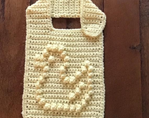 Baby Bib with Bobble Stitch Little Duck Crochet Pattern - Baby Bib - Bobble Bib